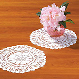 """Wall, Floor & Window Decor - Lace Doily 10"""" Round Set of 3"""
