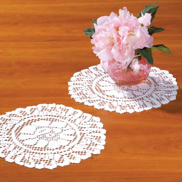"Lace Doily 10"" Round Set of 3"