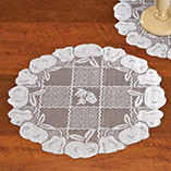 "View All Clocks & Decorative Accents - Lace Doily 14"" Round - Set Of 2"
