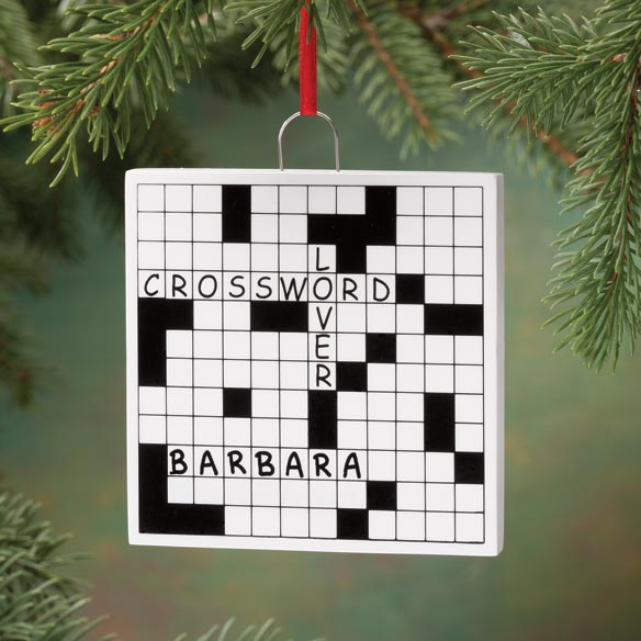 Personalized Crossword Puzzle Ornament