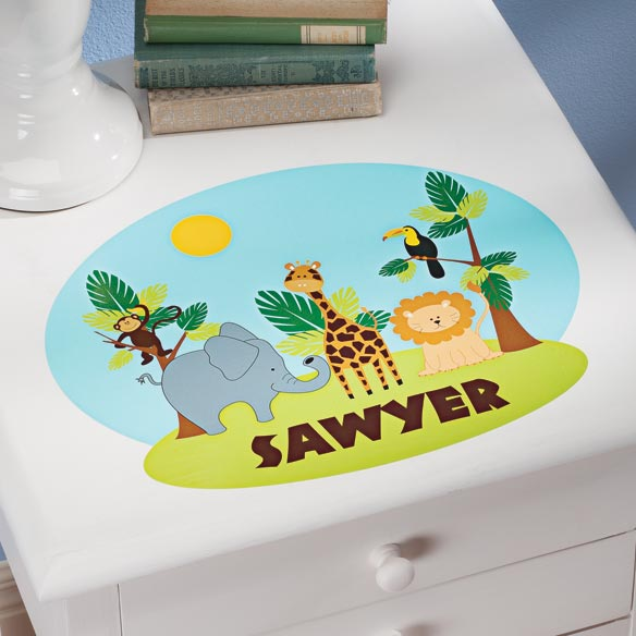 Personalized Zoo Décor Cling
