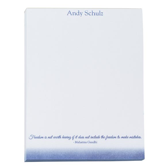 Personalized Inspirational Notepads Set of 4