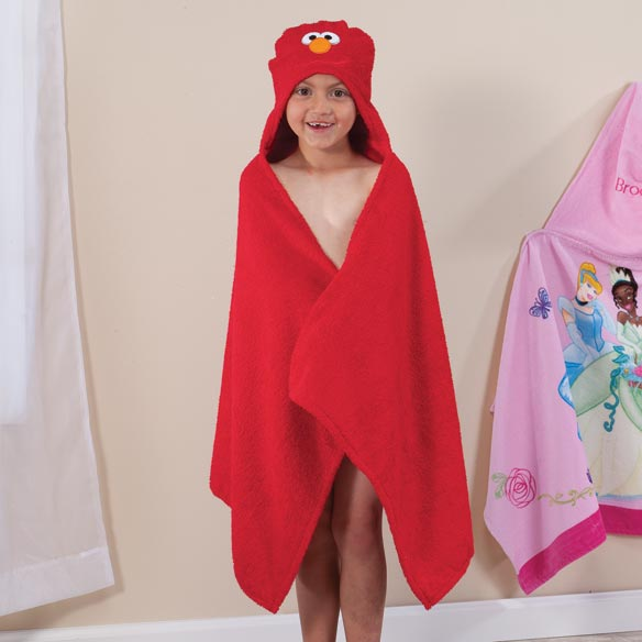 Personalized Elmo Hooded Kid's Towel