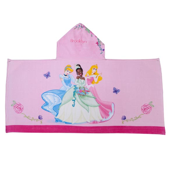 Personalized Princess Hooded Kid's Towel