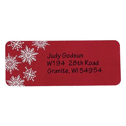 snowflake return address labels