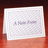 "Home Office - Personalized ""A Note From"" Cards - Set Of 25"