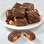 Chocolate - Chocolate Covered Fruit Cake Slices