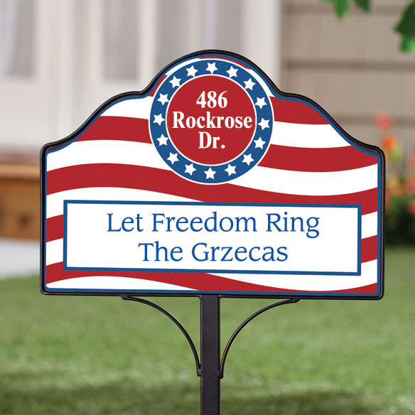 Magnetic Patriotic Yard Sign Personalized Lawn Sign