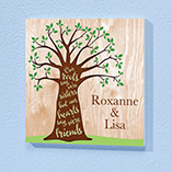 Home - Personalized 8x8 Sisters Tree Wood Wall Plaque
