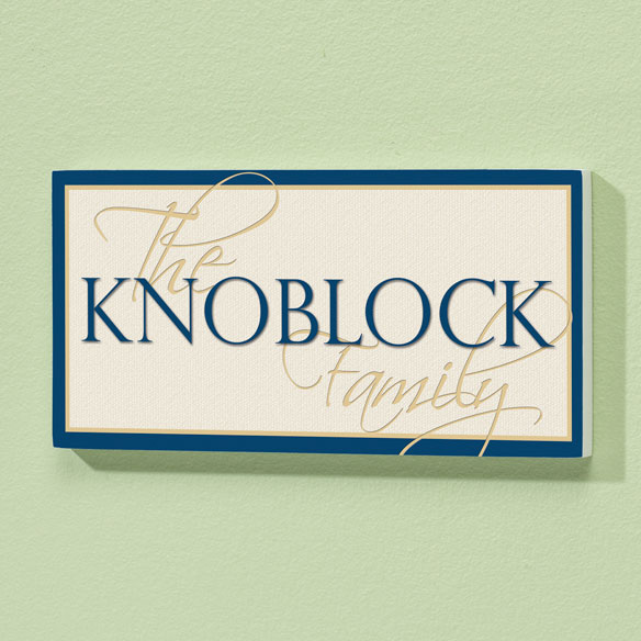 Personalized 4x8 Family Name Wood Wall Plaque