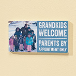 Home Décor - 4x8 Grandkids Welcome Photo Wood Wall Plaque