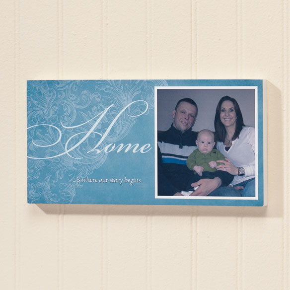 4x8 Home Sentiments Photo Wood Wall Plaque