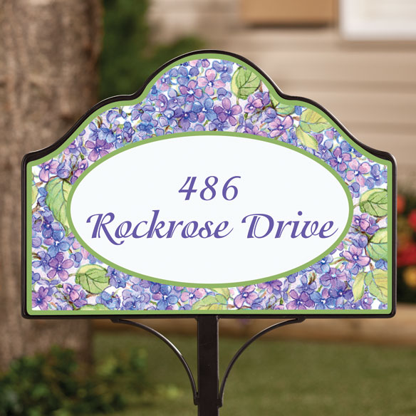 Personalized Magnetic Lilac Yard Sign