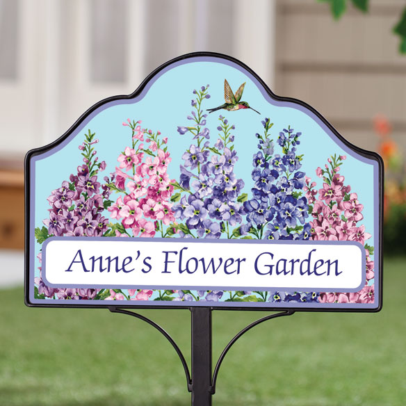 Personalized Magnetic Floral Yard Sign