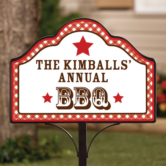Personalized Magnetic Summer BBQ Yard Sign