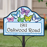 Home - Personalized Magnetic Butterfly Yard Sign