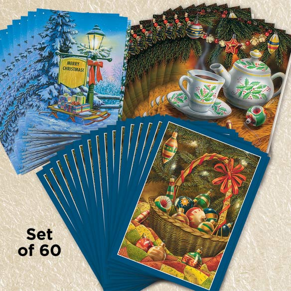 Doug Knudson Christmas Cards Collection Set of 60