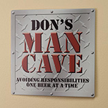 Home Décor - Personalized 12x12 Diamond Plate Man Cave Metal Wall Plaque