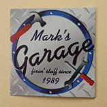 Home Décor - Personalized 12x12 Garage Metal Wall Plaque