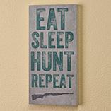 Home Décor - 4x8 Eat Sleep Hunt Repeat Wood Wall Plaque