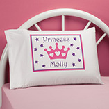 Children's Products - Personalized Princess Crown Pillowcase