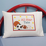 Children's Products - Personalized All Star Pillowcase