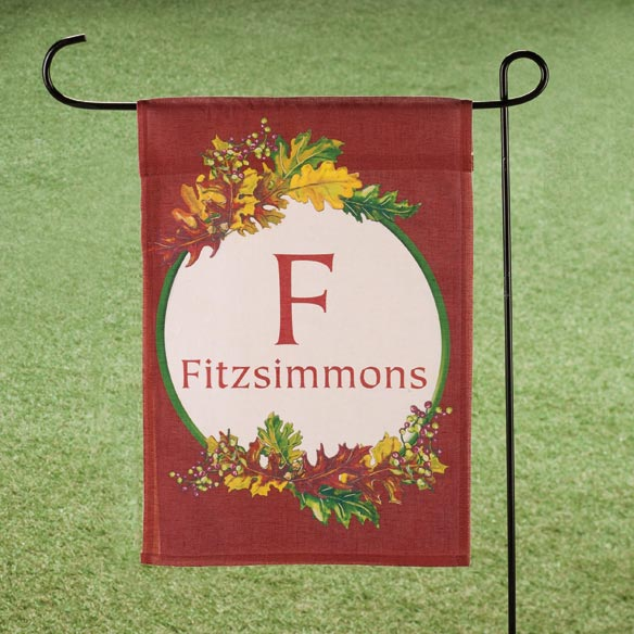 Personalized Leaves Garden Flag