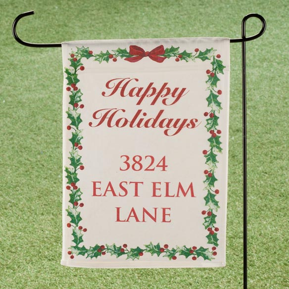 Personalized Holly Garden Flag