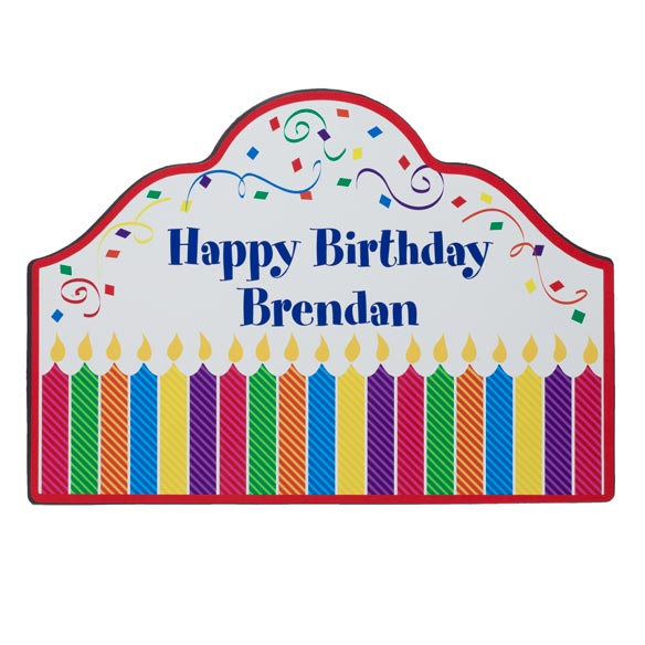 Personalized Birthday Magnetic Sign