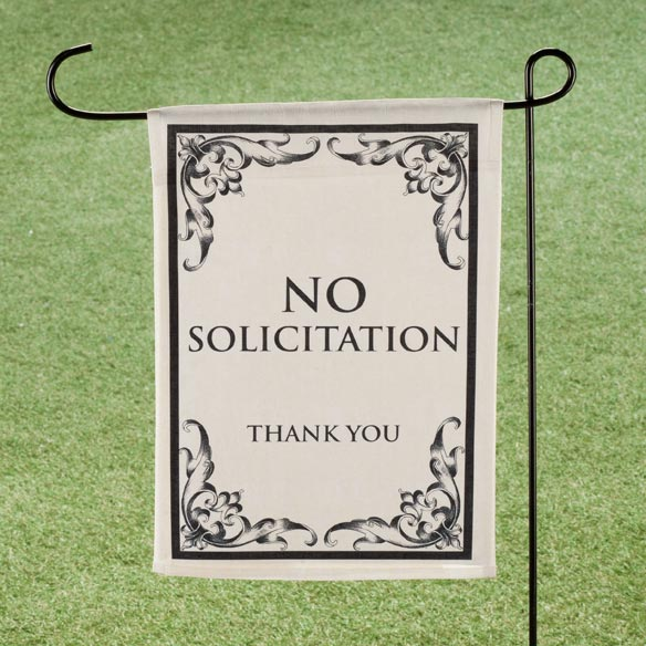No Solicitation Garden Flag