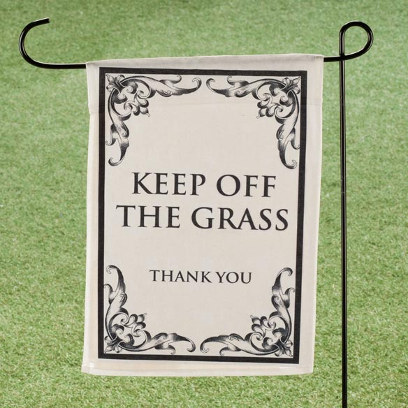Keep Off The Grass Garden Flag