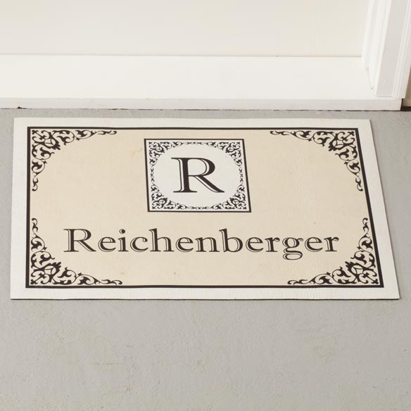 Personalized Classic-Monogram Doormat