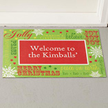 Frontdoor & Mailbox - Personalized Holiday Greetings Doormat