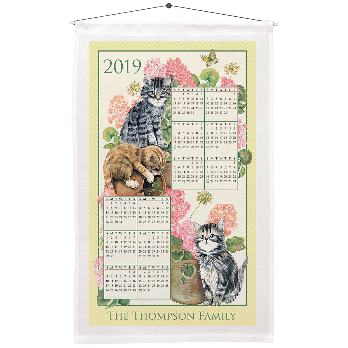 Calendar Towel Tea Towel Calendar Linen Calendar