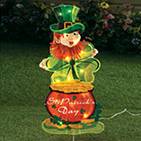 St. Patrick's Day - Leprechaun Yard Light