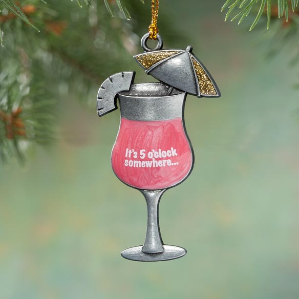 Pewter Cocktail Ornament