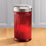 Depression Style Glassware - Red Glass Sugar Dispenser