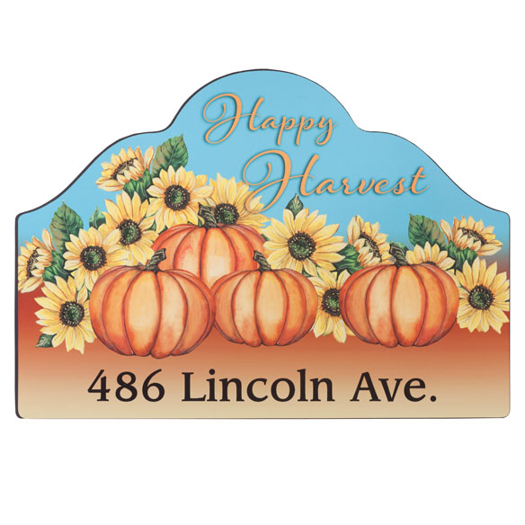 Personalized Happy Harvest Magnetic Sign