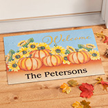Frontdoor & Mailbox - Personalized Happy Harvest Doormat