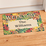 Frontdoor & Mailbox - Personalized Harvest Leaves Doormat