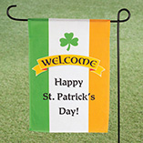 St. Patrick's Day - Personalized Irish Pride Garden Flag