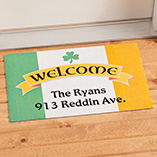 St. Patrick's Day - Personalized Irish Pride Doormat