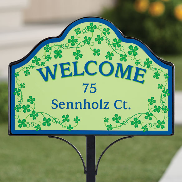 Personalized Shamrocks Magnetic Sign