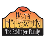 Halloween - Personalized Happy Halloween Magnetic Sign