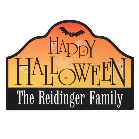 Personalized Happy Halloween Magnetic Sign