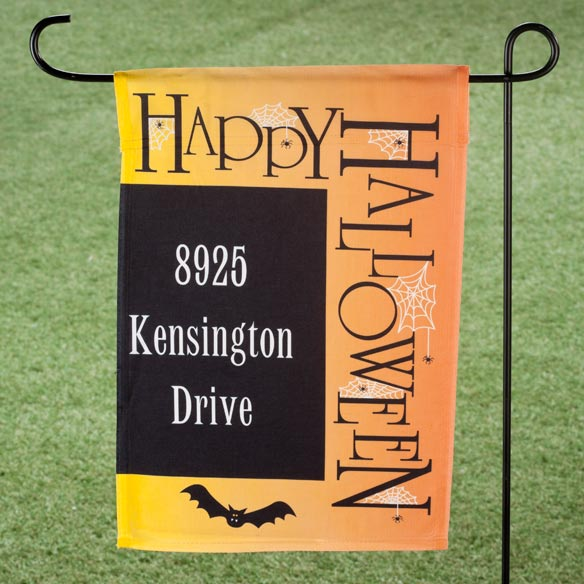 Personalized Happy Halloween Garden Flag