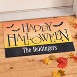 Frontdoor & Mailbox - Personalized Happy Halloween Doormat