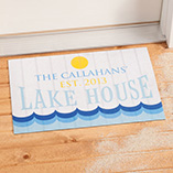 Frontdoor & Mailbox - Personalized Lake House Doormat