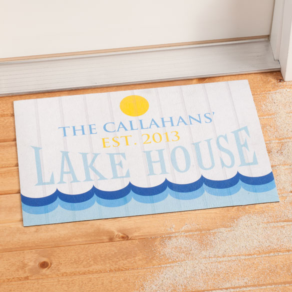 Personalized Lake House Doormat