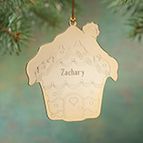 Ornaments - Personalized Gingerbread House Ornament